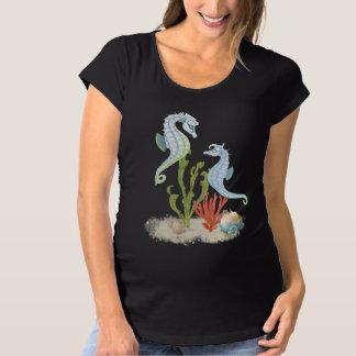 Sea Horse Pair Maternity T-Shirt