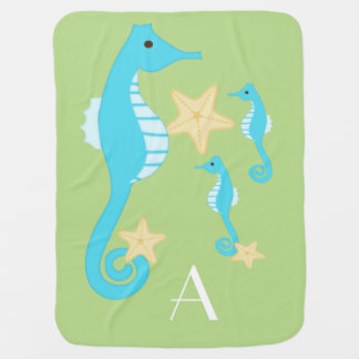Sea Horse /Personalize Swaddle Blankets