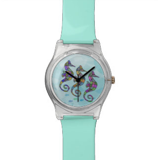 Sea horse Rainbow Wristwatch