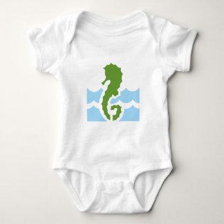 Sea-horse sea horse baby bodysuit