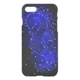 sea horse swims in lights iPhone 8/7 case