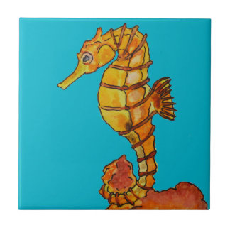Sea horse tile