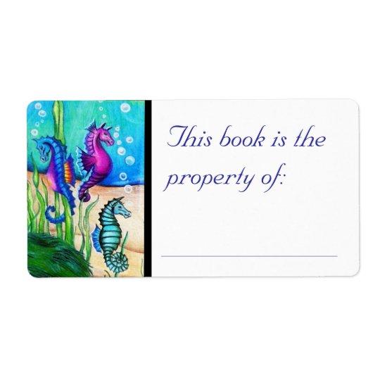 Sea Horses Book Label