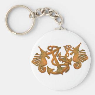 Sea horses keychain