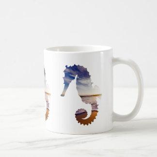 Sea horses With Beach Background Coffee Mug