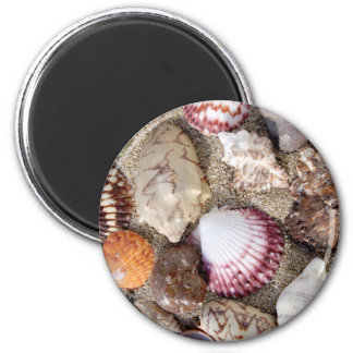 Sea in the sand 2 inch round magnet