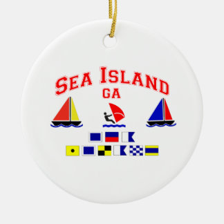 Sea Island-GA. Ceramic Ornament