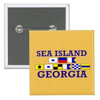Sea Island, GA - Sandy Flag Button