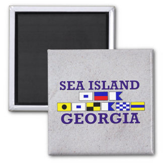 Sea Island Nautical Flag - Sandy Magnet