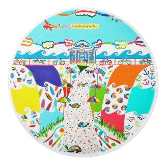 Sea Isle City New Jersey Ceramic Pull Knob