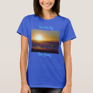 Sea Isle City Sunset Photo T-Shirt