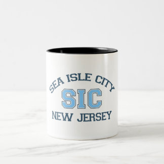 Sea Isle City. Two-Tone Coffee Mug