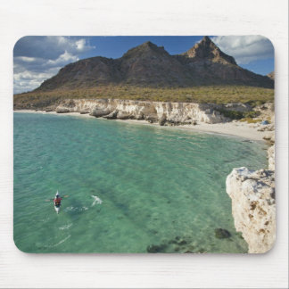 Sea kayaker on the Gulf of California at Isla Mouse Pad