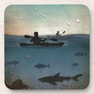 Sea Kayaking Beverage Coaster