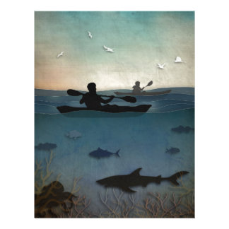 Sea Kayaking Letterhead Template