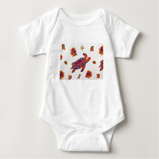 Sea life baby bodysuit
