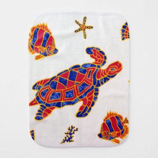 Sea life burp cloth