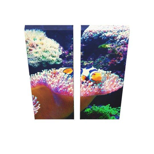 Sea Life Clown Fish Picture Canvas Print