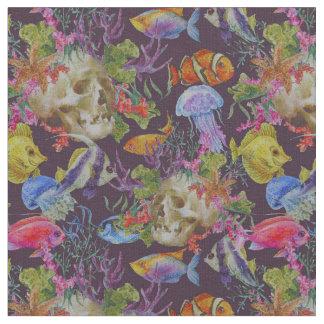 Sea Life Grunge Pattern Fabric