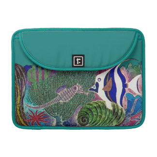 Sea Life in the Reef Design Sleeve For MacBooks