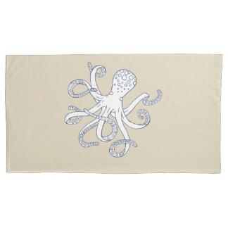 Sea Life Octopus Nautical Pillowcase King Size