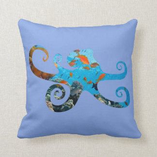 Sea Life Octopus Silhouette, Sea Animal Pillow