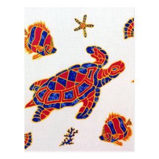 Sea life postcard