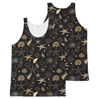 Sea Life Sepia All-Over-Print Tank Top