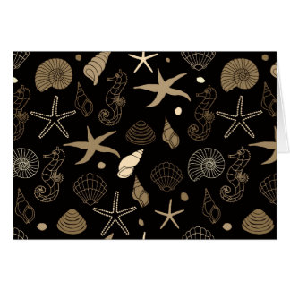Sea Life Sepia Note Card