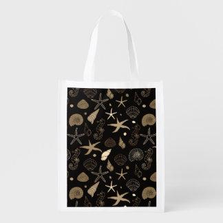 Sea Life Sepia Reusable Grocery Bag