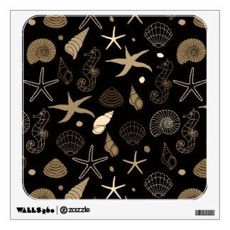 Sea Life Sepia Wall Sticker