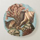 Sea Life Silhouette Round Pillow