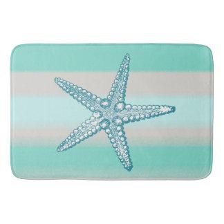 Sea Life Starfish Nautical Bath Mats