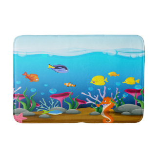 Sea Life Under The Sea Bath Mat