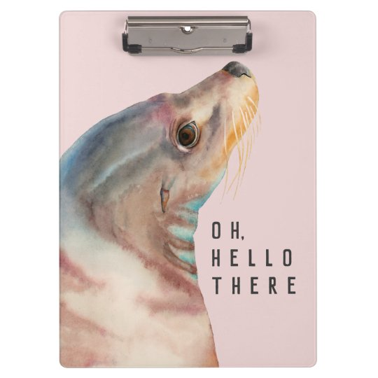 Sea Lion Illustration | Add Your Funny Text Clipboard