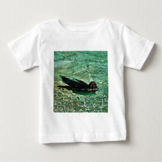 Sea Lion in Dreaming Aquatic World Baby T-Shirt