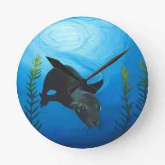 Sea Lion.jpg Round Clock