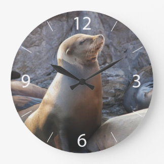 Sea Lion Large Clock
