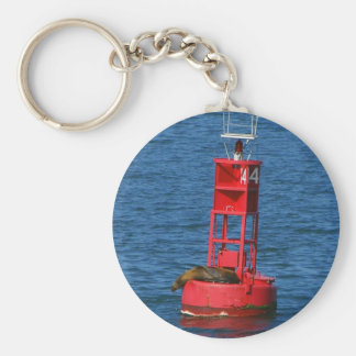 Sea Lion On Buoy Keychain