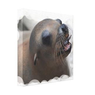 Sea Lion Snacking Canvas Print