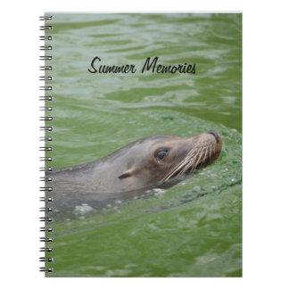 Sea Lion Summer Memories Photograph Notebook