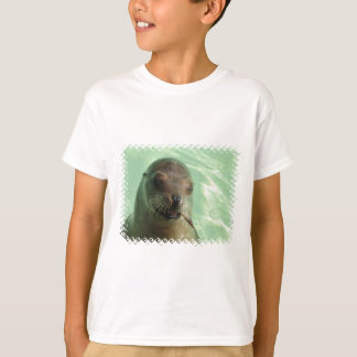 Sea Lion with Fish Kid T-Shirt