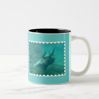 Sea Lions Aqua Mug
