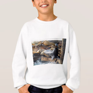 Sea Lions on the Floating Dock in San Francisco Sweatshirt