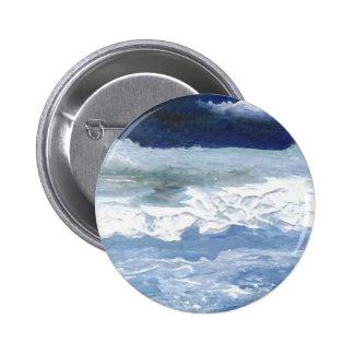Sea Meeting Rocks Ocean Waves Art Gifts Pin
