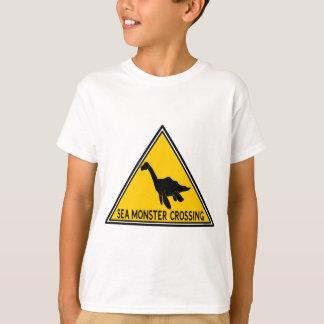 Sea Monster Crossing Logo Tee Shirt