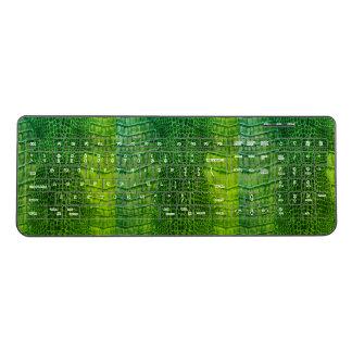Sea Monster in Bright Green Faux Leather Wireless Keyboard