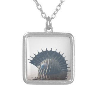 Sea Monsters Silver Plated Necklace