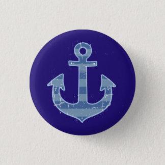 sea nautical navy anchor 1 inch round button