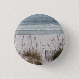Sea Oats Along the Beach Side 1 Inch Round Button